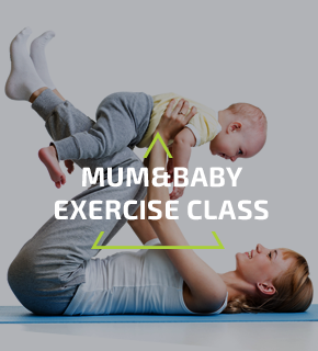 Mom and baby excercise class